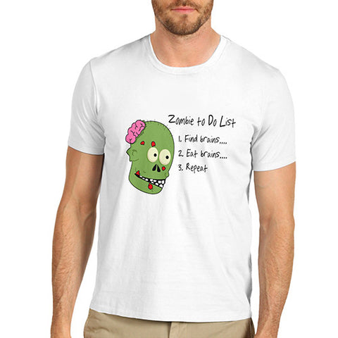 Men's Zombies To Do List Funny T-Shirt