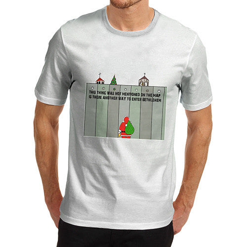 Men's Santa Entering Bethlehem T-Shirt