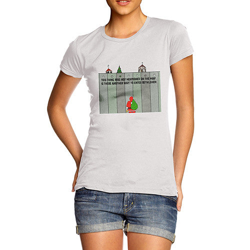 Women's Santa Entering Bethlehem T-Shirt