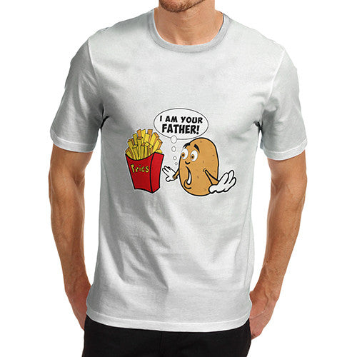 Men's Funny I Am Your Father Potato French Fries T-Shirt