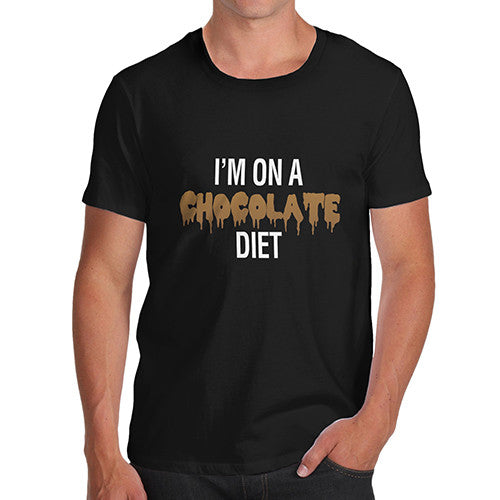 Men's I'm On a Chocolate Diet Funny T-Shirt