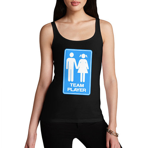 Women's Team Player Funny Tank Top