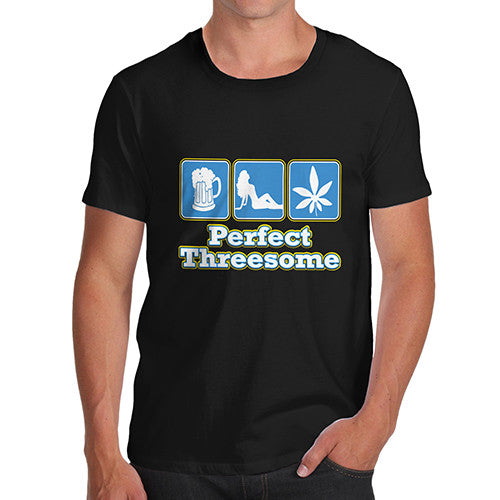 Men's Perfect Threesome Funny T-Shirt