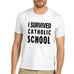 Mens I Survived Catholic School T-Shirt