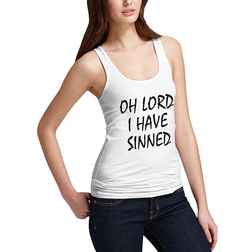 Womens I Have Sinned Funny Tank Top