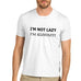 Mens Not Lazy In Energy Saving Mode Funny T-Shirt