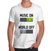 Men's Music On World Off T-Shirt