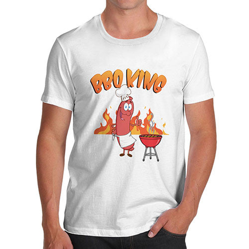 Men's Funny BBQ King Joke T-Shirt