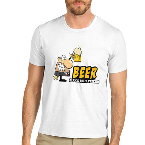 Men's Funny Beer Man's Best Friend Joke T-Shirt