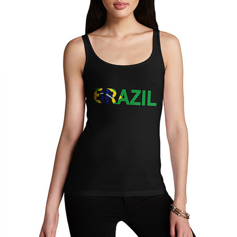 Women's Brazil Flag Football Tank Top