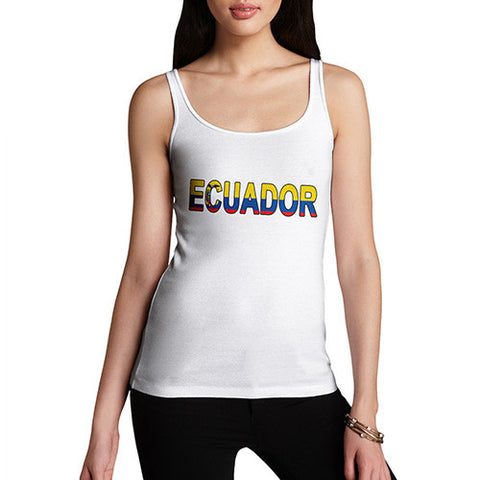 Women's Ecuador Flag Football Tank Top