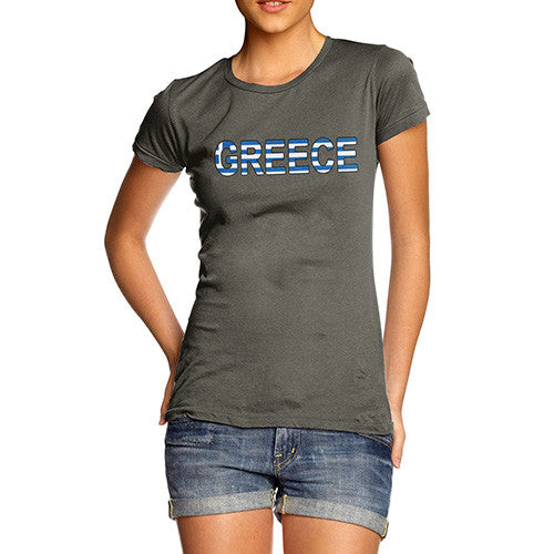 Women's Greece Flag Football T-Shirt
