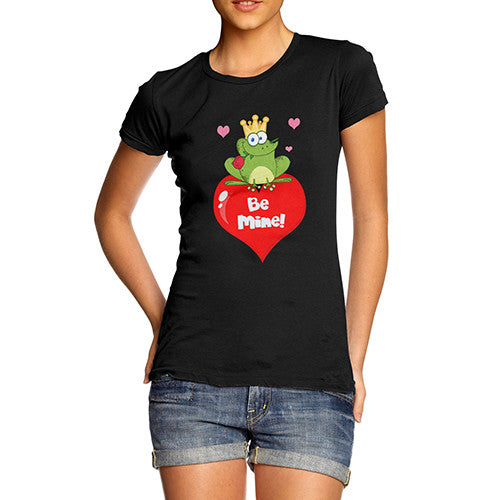 Womens Be Mine Frog And The Prince T-Shirt