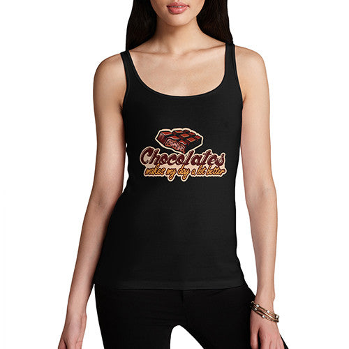Womens Chocolate Makes My Day Better Tank Top