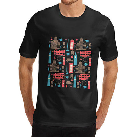 Mens London British Icons T-Shirt
