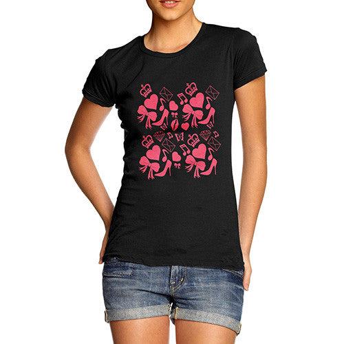 Womens Love London Shopping T-Shirt