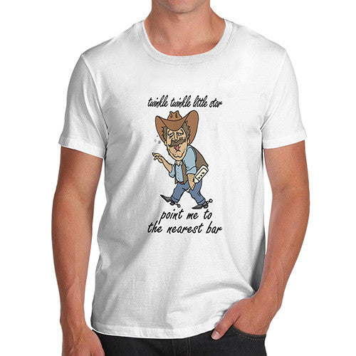 Mens Twinkle Twinkle Point Me To the Nearest Bar T-Shirt