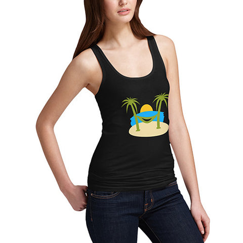 Womens Tropical Island Smile Tank Top