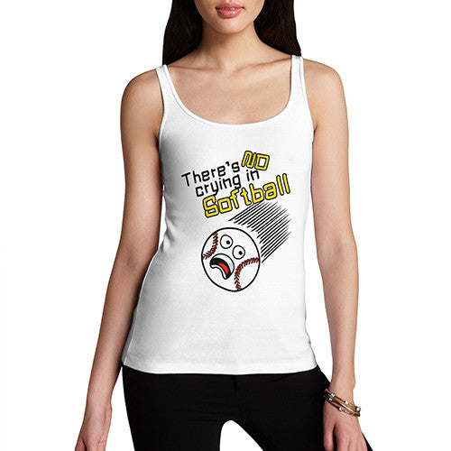 Womens No Crying In Softball Tank Top