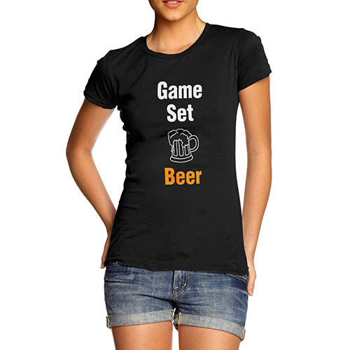 Womens Game Set Beer T-Shirt