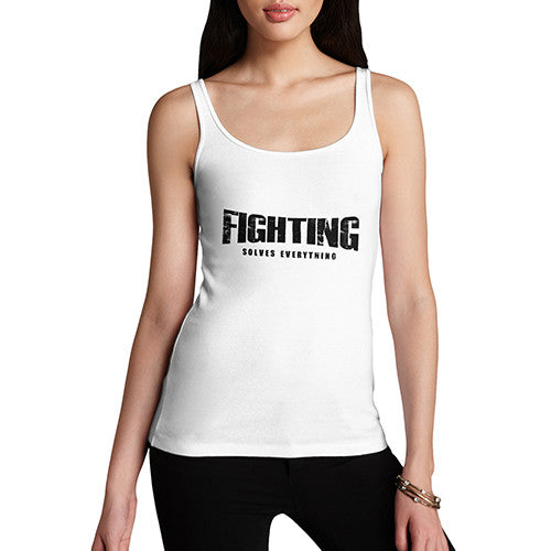 Womens Fighting Solves Everything Tank Top