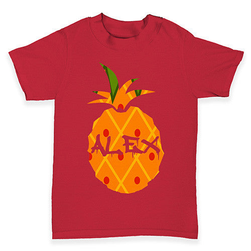 Personalised Pineapple Baby Toddler T-Shirt