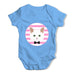 White Cat Baby Grow Bodysuit