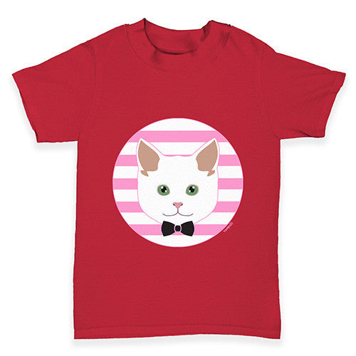 White Cat Baby Toddler T-Shirt