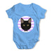 Black Cat Baby Grow Bodysuit