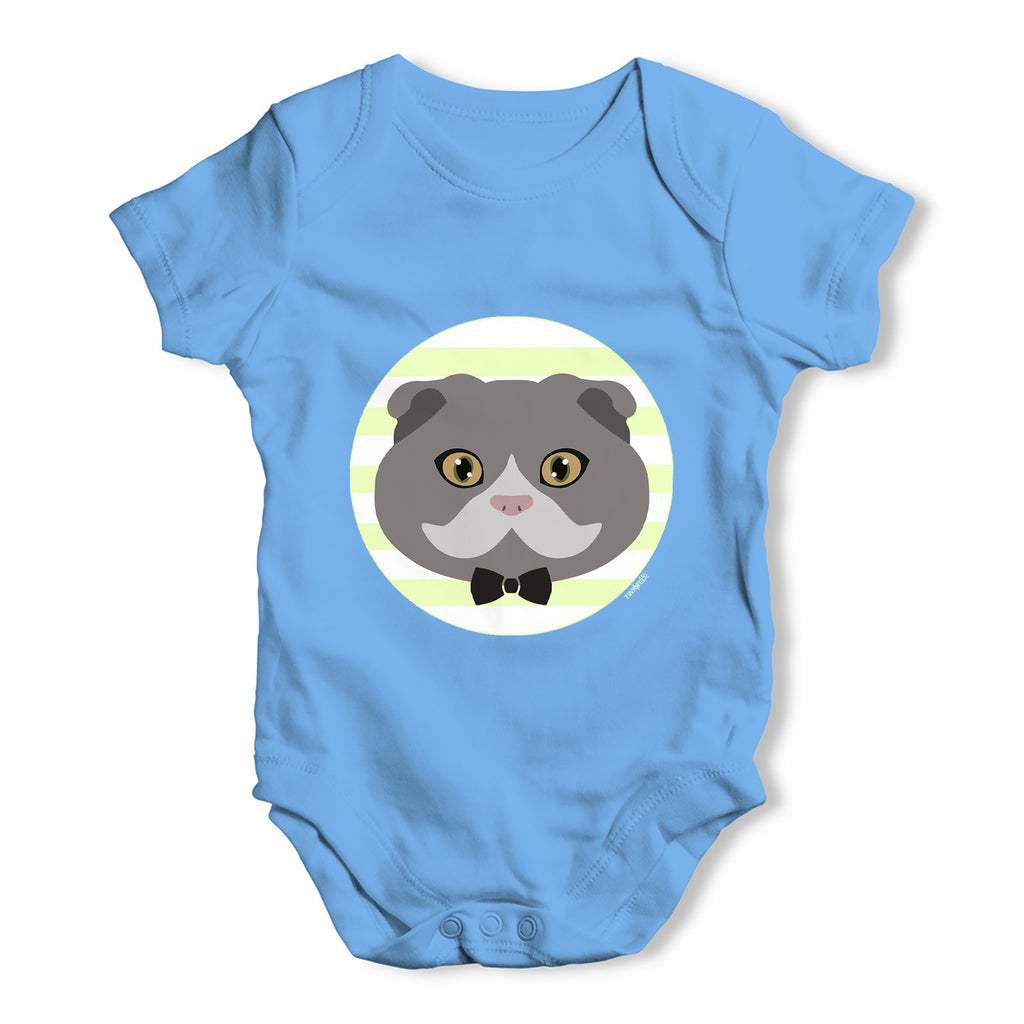 Scottish Fold Cat Baby Grow Bodysuit