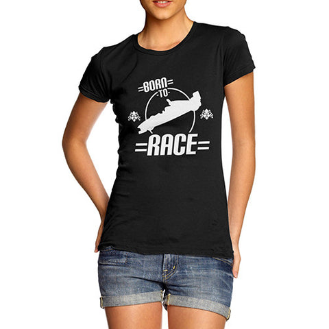 Woman's Born To Race  T-Shirt
