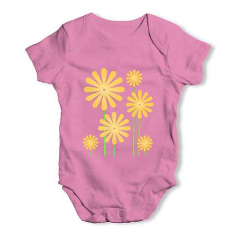 Sunflowers Baby Grow Bodysuit