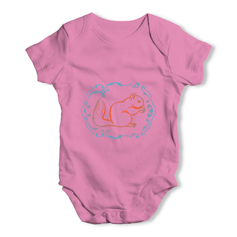 Squirrel Print Baby Grow Bodysuit