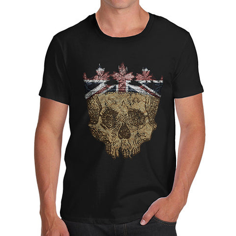 Men's Union Jack Crowned Skull T-Shirt