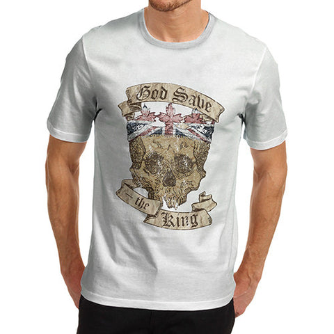Men's British Skull God Save The King T-Shirt