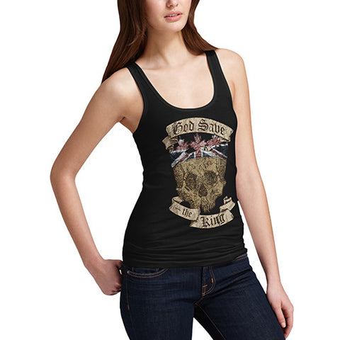 Women's British Skull God Save The King Tank Top