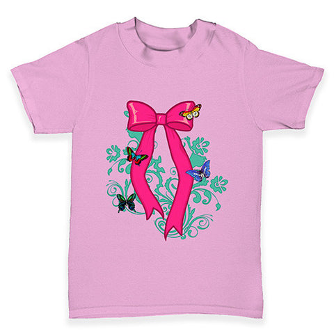 Butterfly Bow Baby Toddler T-Shirt