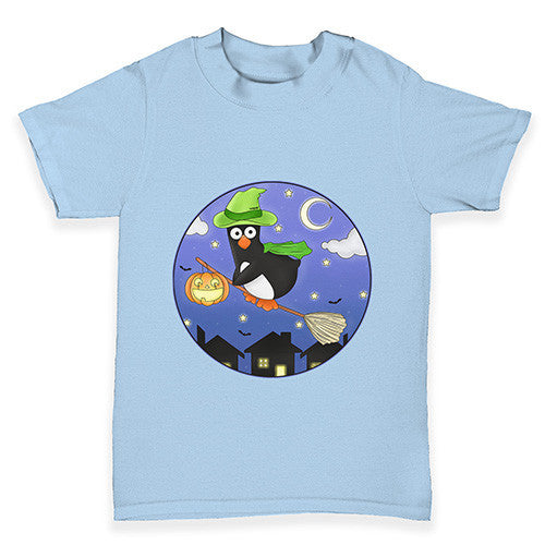 Halloween Witch Guin The Penguin Baby Toddler T-Shirt