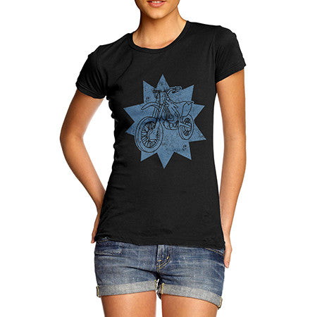 Womens Motocross Dirt Bike T-Shirt
