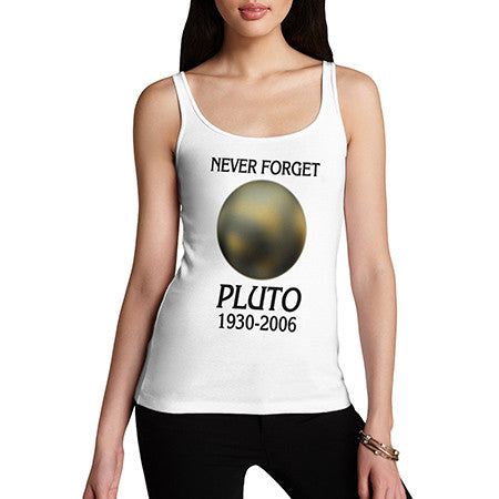 Womens Never Forget Pluto Tank Top