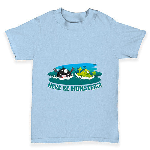 Here Be Monsters Baby Toddler T-Shirt