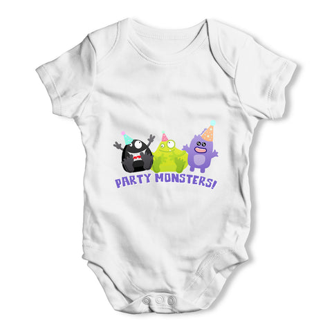 Party Monsters Baby Grow Bodysuit
