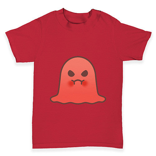 Angry Emoji Ghost Baby Toddler T-Shirt