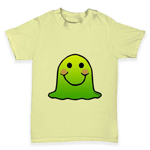 Green Emoji Blob Monster Baby Toddler T-Shirt