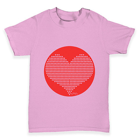 Love Red Hearts Baby Toddler T-Shirt