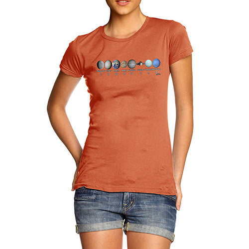 Women's Planet In Our Solar System T-Shirt