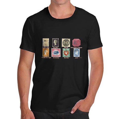 Men's Old Stamps Collection T-Shirt