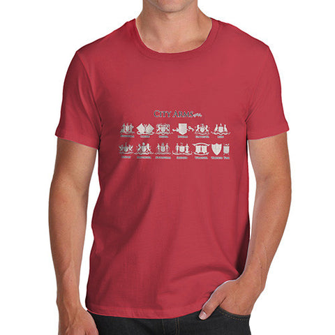 Men's England City Coat Of Arms T-Shirt