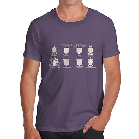 Men's English Town's Coat Of Arms T-Shirt