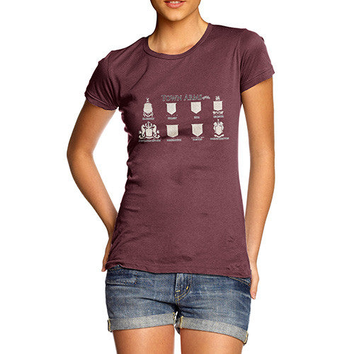 Women's English Town's Coat Of Arms T-Shirt